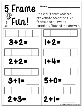 Kindergarten Printables - Addition