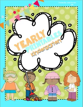 Kindergarten Printables: daily, holiday, and seasonal them