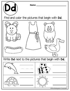 Kindergarten Printables - Beginning Sounds