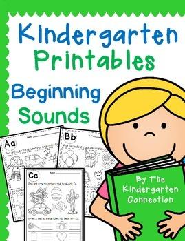 Kindergarten Printables - Beginning Sounds