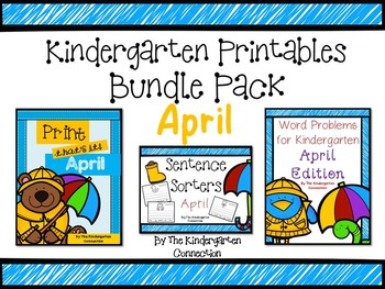 Kindergarten Printables Bundle - April