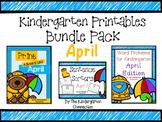 Kindergarten Printables Bundle - April