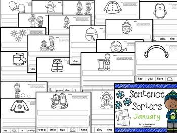 Kindergarten Printables Bundle - January