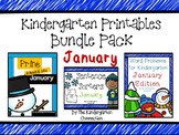 Kindergarten Printables Bundle - January
