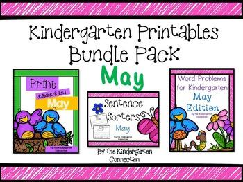 Kindergarten Printables Bundle - May