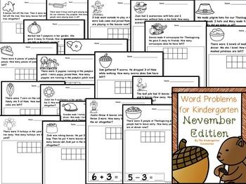 Kindergarten Printables Bundle - November