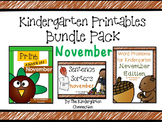 Kindergarten Printables Bundle - November