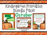 Kindergarten Printables Bundle - October