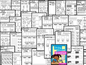 Kindergarten Printables Bundle - Summer