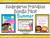 Kindergarten Printables Bundle - Summer