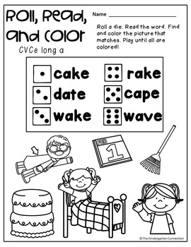 Kindergarten Printables - CVCe Words
