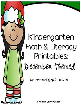 Kindergarten Printables: December Themed