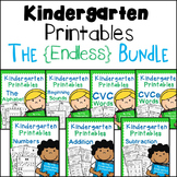 Kindergarten Printables - ENDLESS Bundle