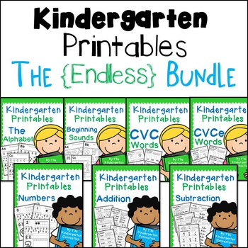 Kindergarten Printables - ENDLESS Bundle