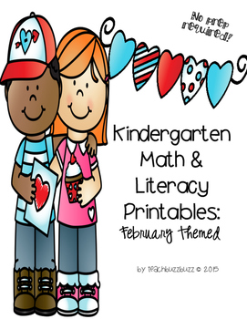 Kindergarten Printables: February Themed
