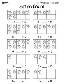 Kindergarten Printables: January Themed
