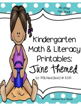 Kindergarten Printables: June Themed
