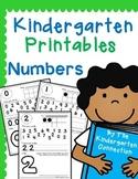 Kindergarten Printables - Numbers