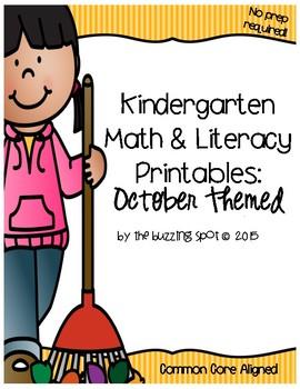 Kindergarten Printables: October Themed