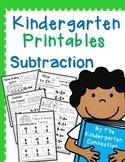 Kindergarten Printables - Subtraction