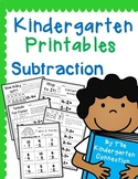 Kindergarten Printables - Subtraction