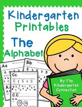 Kindergarten Printables - The Alphabet