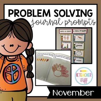 Kindergarten Math Journals: November Story Problems