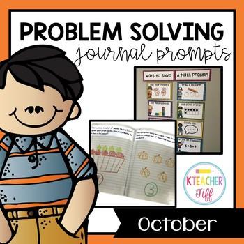 Kindergarten Math Journals: October Story Problems