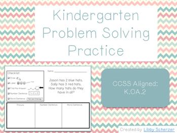 Kindergarten Problem Solving Practice