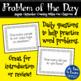 Kindergarten Problem of the Day - August/September