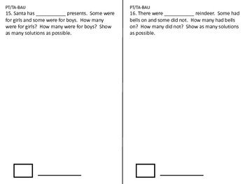 Kindergarten Problem of the Day Booklet for December
