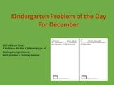 Kindergarten Problem of the Day Booklet for December