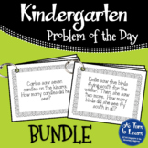 Kindergarten Problem of the Day - Bundle for the Whole Year!
