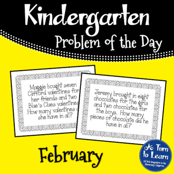 Kindergarten Problem of the Day - February