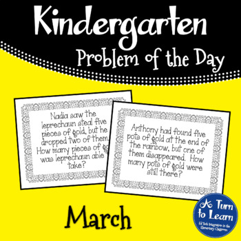 Kindergarten Problem of the Day - March