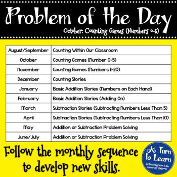 Kindergarten Problem of the Day - October
