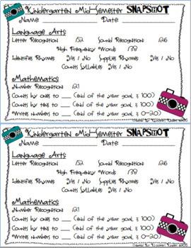 Kindergarten Progress Report Bundle - Fall, Winter, Spring, Mid-Semester