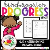 Kindergarten Progress/Assessment Tracker