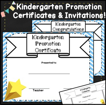 Kindergarten Promotion Certificates