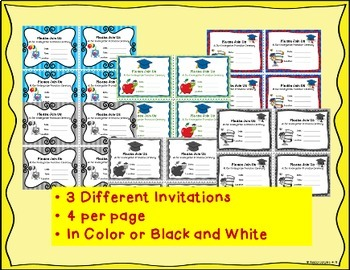 End of the Year Awards: Kindergarten Promotion Certificates and Invitations