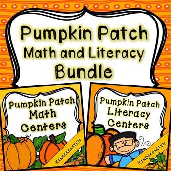 Kindergarten Pumpkin Centers Bundle - 14 Pumpkin Math and Literacy Centers