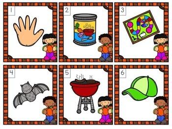 Kindergarten Pumpkin Literacy Center - Ending Sounds