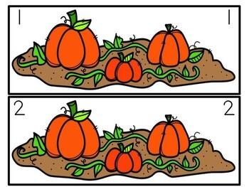 Kindergarten Pumpkin Literacy Center - Pumpkin Patch Syllables