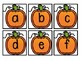 Kindergarten Pumpkin Literacy Center - Upper and Lowercase Letter Pocket Chart