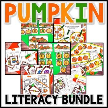 Kindergarten Pumpkin Literacy Centers - 7 Fall Literacy Centers