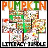 Kindergarten Pumpkin Literacy Centers - 7 Fall Literacy Centers Bundle