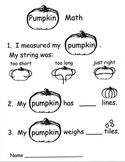 Kindergarten Pumpkin Math