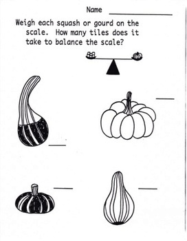 Kindergarten Pumpkin Math