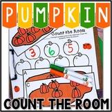 Kindergarten Pumpkin Math Center - Count the Room