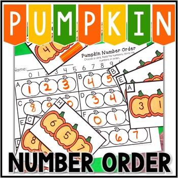 Kindergarten Pumpkin Math Center - Number Order
